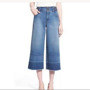 Olivia Palermo + Chelsea 28 Denim Cullotte Jeans